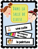 (FRENCH) Word Wall: Dans la salle de classe