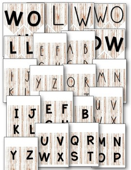 Word Wall Decor {Distressed White Wood}