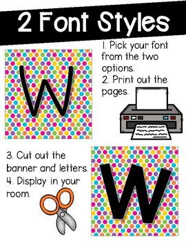 Word Wall Decor {Multi-Color Dots}