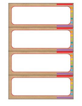 Word Wall Decor {Multi-color and Brown Bag}