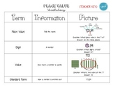 Word Wall Definitions (Place Value FREEBIE)