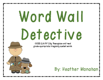 Word Wall Detective