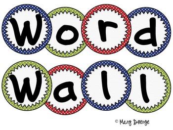 Word Wall Display