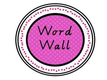 Word Wall Display (VIC FONT)