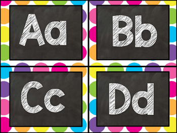 Editable Word Wall Display (Chalkboard and Bright Dot)