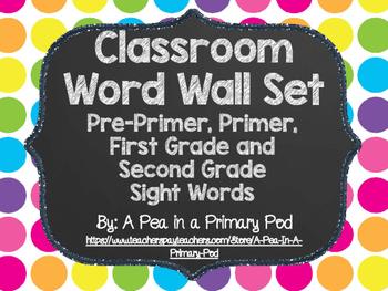 Editable Word Wall Display (Chalkboard and Bright Dot)