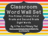 Editable Word Wall Display (Chalkboard and Rainbow Stripe)