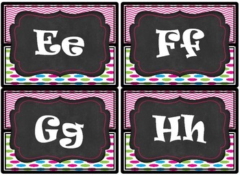 Word Wall Display Headers- Chalk&Neon