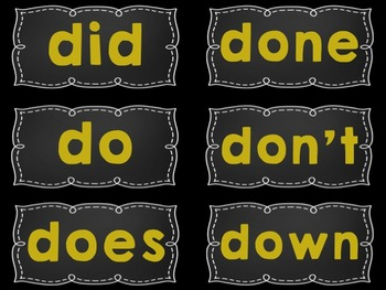 Word Wall Display Headers and/or Sight Word Cards {Yellow/Gold, Black, White}