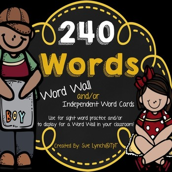 Word Wall Display Headers and/or Sight Word Cards {Yellow/