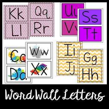 Primary Classroom Word Wall Letters