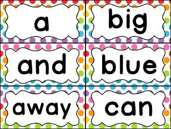 Word Wall Set (Rainbow Dot)