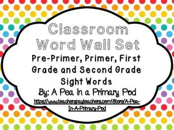 Word Wall Set (Rainbow Dot)