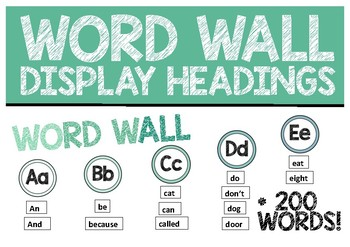 Word Wall Display and Common Words! Natural, green tones for a calming classroom
