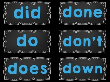 Word Wall Display Headers and/or Sight Word Cards {Blue, Black, White}