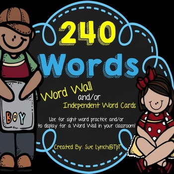Word Wall Display Headers and/or Sight Word Cards {Blue, B