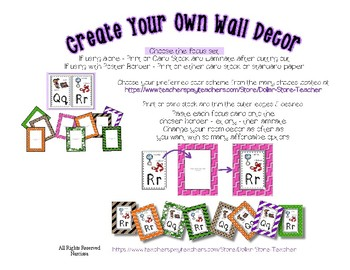 Word Wall - Dolch Fry Sight & More * Over 1100 words * Create Your Own Room