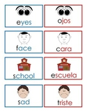 All About Me My School Dual Language Vocabulary Cards