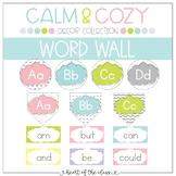 Word Wall EDITABLE - Calm & Cozy Collection