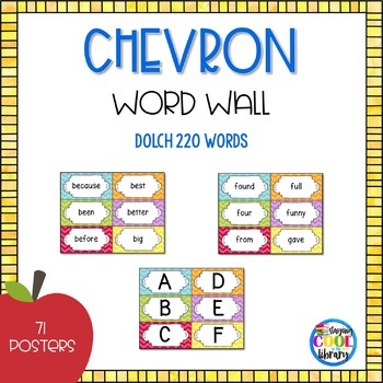 Word Wall  - Editable {Chevron}
