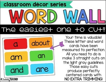 Word Wall - Editable and Easy to Cut!