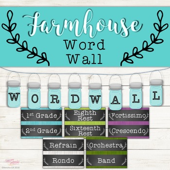 Music Word Wall - Farmhouse Theme