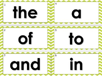 Word Wall - First 100 Fry Sight Words & Editable Sight Word Cards
