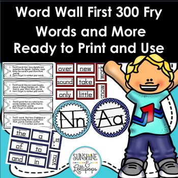 Word Wall First 300 Fry Sight Words &More for Primary Grades