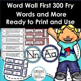Word Wall First 300 Fry Words and More WITH Additional Editable Blank CARDS