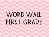 Word Wall First Grade Dolch Words