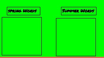 Word Wall For Google Slides
