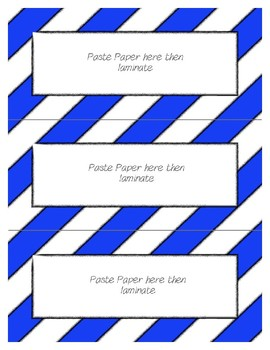 Word Wall Frames - Create Your Dream Room Decor - Blue