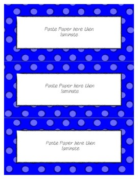 Word Wall Frames - Create Your Dream Room Decor - Bright Blue