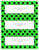 Word Wall Frames - Create Your Dream Room Decor - Bright Green