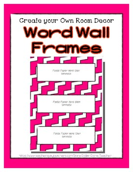 Word Wall Frames - Create Your Dream Room Decor - Bright Pink