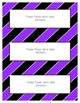 Word Wall Frames - Create Your Dream Room Decor - Bright Purple