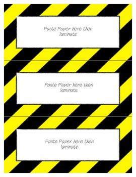 Word Wall Frames - Create Your Dream Room Decor - Bright Yellow