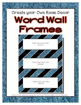 Word Wall Frames - Create Your Dream Room Decor - Denim