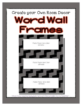 Word Wall Frames - Create Your Dream Room Decor - Gray