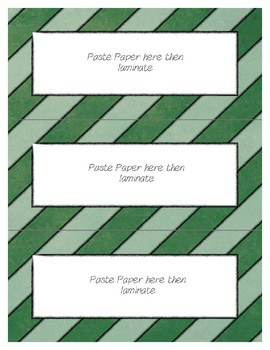 Word Wall Frames - Create Your Dream Room Decor - Green Chalkboard