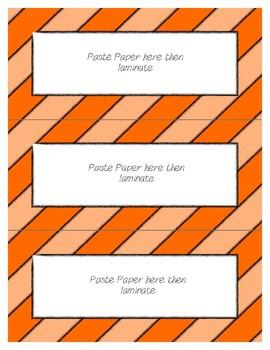 Word Wall Frames - Create Your Dream Room Decor - Orange