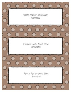Word Wall Frames - Create Your Dream Room Decor - Pastel Brown