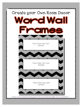 Word Wall Frames - Create Your Dream Room Decor - Pastel Gray
