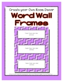 Word Wall Frames - Create Your Dream Room Decor - Pastel Purple