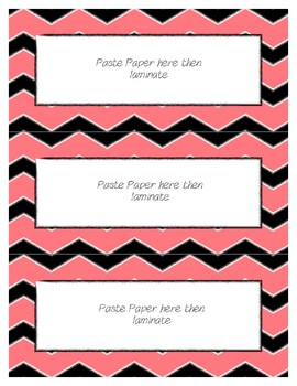 Word Wall Frames - Create Your Dream Room Decor - Pastel Red