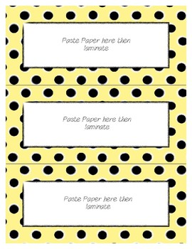 Word Wall Frames - Create Your Dream Room Decor - Pastel Yellow