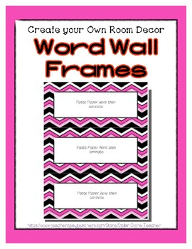 Word Wall Frames - Create Your Dream Room Decor - Pink