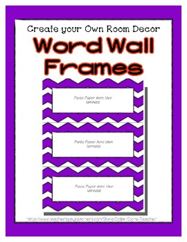 Word Wall Frames - Create Your Dream Room Decor - Purple