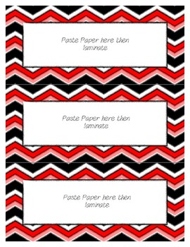Word Wall Frames - Create Your Dream Room Decor - Red