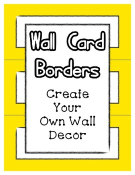 Word Wall Frames - Create Your Dream Room Decor - Yellow